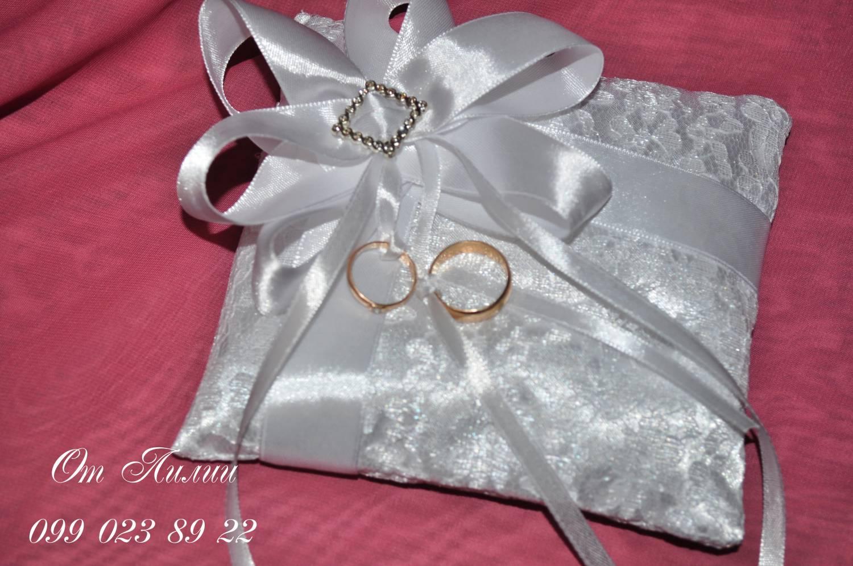 Свадебная подушечка для колец своими руками мастер класс фото