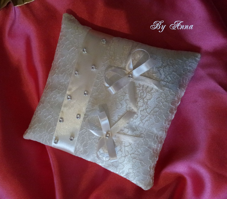 Свадебная подушечка для колец своими руками пошагово 58